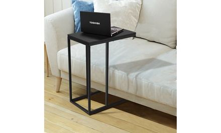 Coffee Tray Sofa Side End Table Ottoman Couch Console Stand TV Lap Snack Black