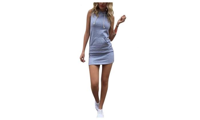 Women Dresses Casual Sleeveless Bodycon Mini Dress