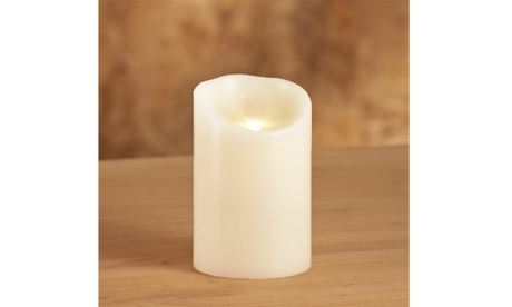 "Flameless Battery Operated Candle - Vanilla Scent (White) - 3"" x 4"""