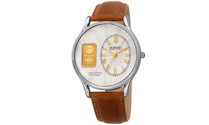 August Steiner Men's Quartz Luxury Leather Strap Watch ASGP8224