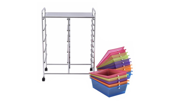 ... Costway 15 Drawer Rolling Storage Cart Tools Scrapbook Paper Organizer ...  sc 1 st  Groupon & Up To 40% Off on Costway 15 Drawer Rolling Sto...   Groupon Goods