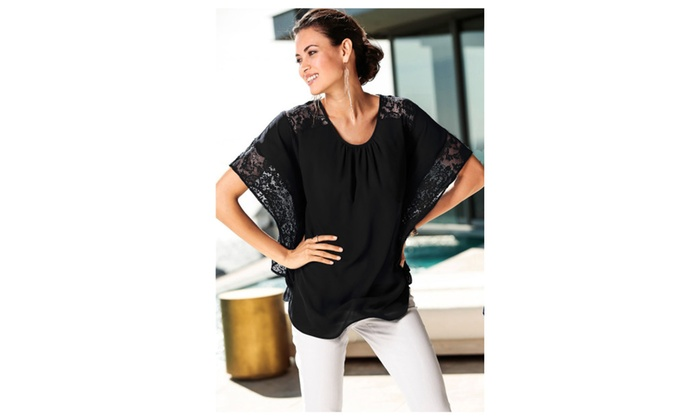Women Loose Shirt Bat Style Lace Sleeves Blouse – JPWSB888-JPWSB889