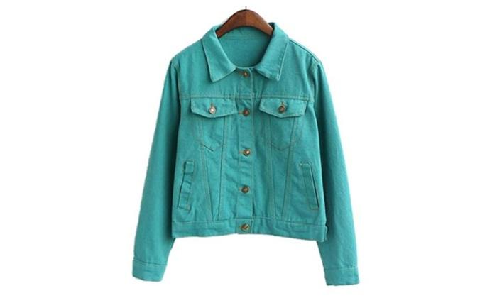 Lingswallow Women's Classic Outwear Short Trucker Denim Jacket Jean Coat