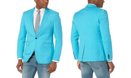 Azaro Uomo Men's Linen Blazer Slim Dress Casual Suit Sport Jacket Stylish