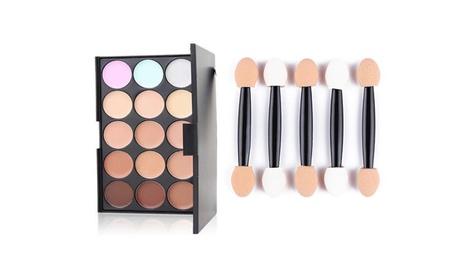 Professional Quality 15 Color Palette & 50 Pcs Makeup Puffs 21ad6ac7-ae6b-4181-ba4c-dcdeca19379c