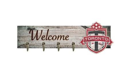 """Fan Creations Team Logo MLS 24"""" x 6"""" Welcome Coat Hanger"""