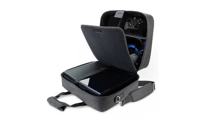 7430911126 Xbox One X Console Travel Carry Case Bag Fits System Games Accessories