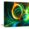 Fire Green - Large Abstract Wall Art
