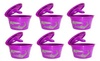Reusable coffee filter, purple refillable economic K-Cup, (2-, 4-, 6-)