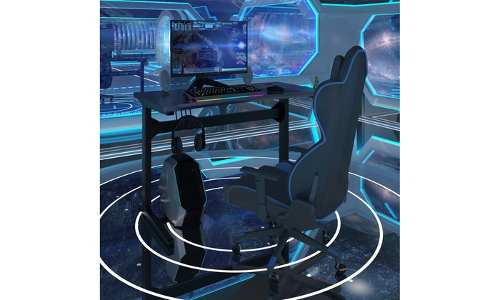 Astounding Up To 36 Off On Gaming Computer Desk Carbon F Groupon Gmtry Best Dining Table And Chair Ideas Images Gmtryco