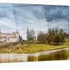 Castle by the Lake Photography Landscape Metal Wall Art 28x12