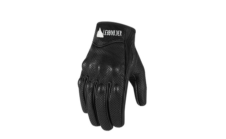 Men's Motorcycle Leather Perforated Cruiser Protective Gloves 8843d64b-27a7-464c-8344-964daecebb9c