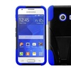 Insten Blue Hybrid Hard Case Kickstand For Samsung Galaxy Ace Style