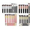 14Pcs Professional Cosmetic Makeup Brush Set Contour Beauty Tool Gift
