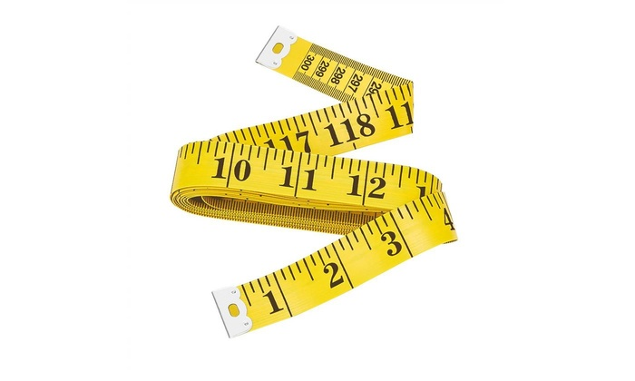 Double-Scale Soft Tailors Tape Measure for Sewing Tailor Cloth Body Measurement,300cm//120 Inch,Pack of 4