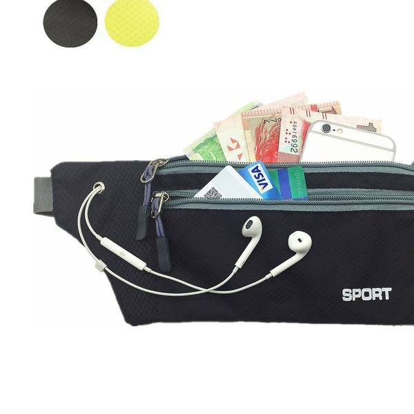 Unisex Sports Casual Bags Fanny Pack Climbing Running Waists Flexible Belt Pouch
