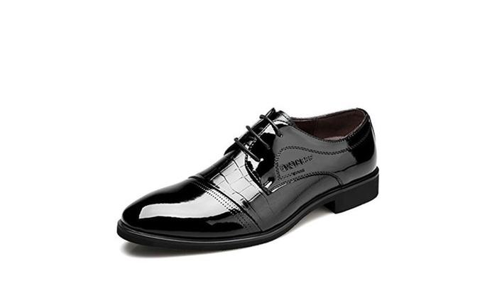 YangXieJiang Men's Lace-up Oxfords Business Dress Shoes