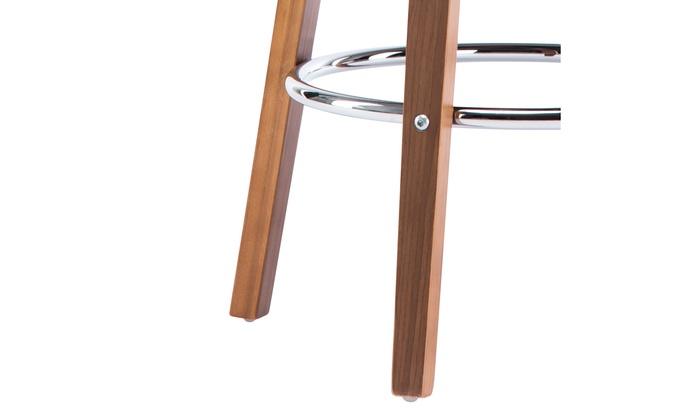 Swell Wooden Black Faux Leather Mid Century Modern Swivel Barstool Frankydiablos Diy Chair Ideas Frankydiabloscom