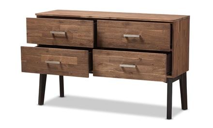 Selena Brown Wood Bedroom Dresser or Chest