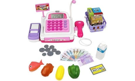 Click N' Play Pretend Play Electronic Calculator Cash Register 18ade29e-861e-4d8c-b33c-ad82c5a8f154