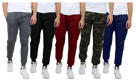 Men's Fleece-Lined Jogger Sweatpants (With or Without Zipper Pockets)