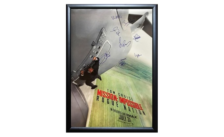 Mission Impossible Rogue Nation - Cast Signed Movie Poster Framed 163e8a79-090f-43d5-8b13-9fb7b7db31c2