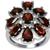 Orchid Jewelry 925 Sterling Silver 7.15 Carat Genuine Garnet Ring