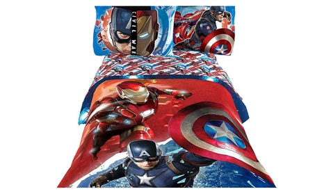 Captain America Civil War Warriors Twin/Full Comforter and Sheets 97a11ee2-0aaa-4e32-8c43-59b467d94470