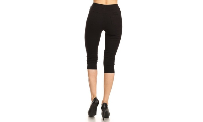785f16f71a0 Women s High Waist Pull-On Capri Jeggings. Plus Sizes Available.