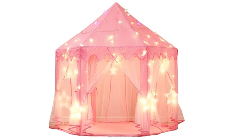 Princess Tent Girls Large Playhouse Kids Castle Play Tent with Star Lights