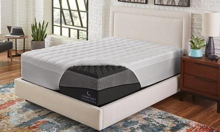 """Comfort Essentials Ebony 4"""" Ebonite Memory Foam & Fiber Topper"""