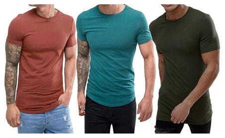 Pure Color Slim Round neck T-Shirt 47646a49-e0d7-4014-8346-53c592880541