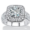2.75 TCW CZ Ring in Platinum over Sterling Silver