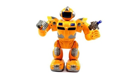 Super Robot Electric Toy Figure Flashing Lights, Plays Sounds 4725e5bd-5120-4782-bf32-acbbf6c955f8