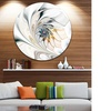 White Stained Glass Floral Art' Large Floral Metal Circle Wall Art