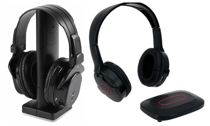 24adaa703d5 Onn Wireless TV Headphones with Transmitter & FM Radio (New Open Box ...