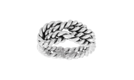 Sterling Silver Love Knot Ribbed Ring bb40d9c2-8770-4814-bb79-92ed1d191c58