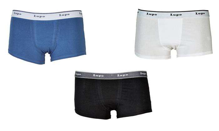 Lupo Classic Fashion Stretch Cotton Mens Trunks