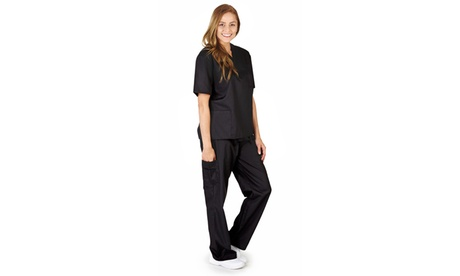 M SCRUBS Women Solid 8 pocket Scrub Set - multiple color available 81a4ea50-c4fc-4af7-a149-bbcb67fbe8b2