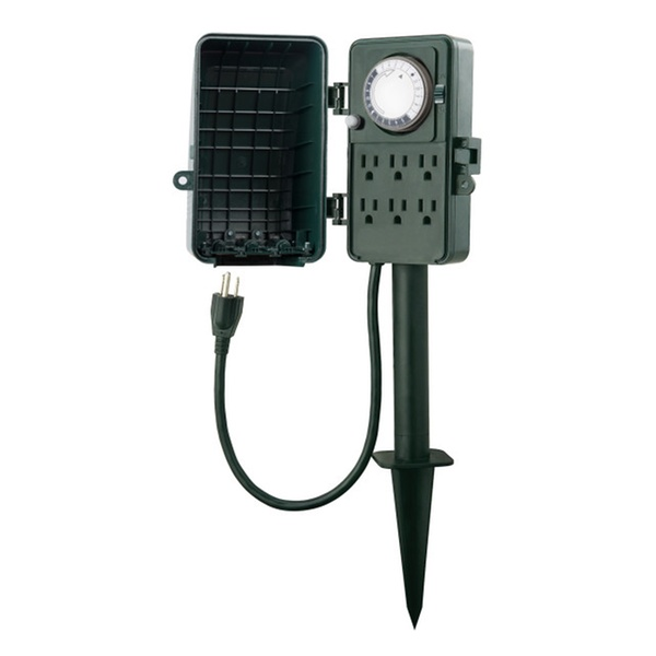 Century 24 Hour Outdoor Mechanical Timer 6 Ways Garden Stake