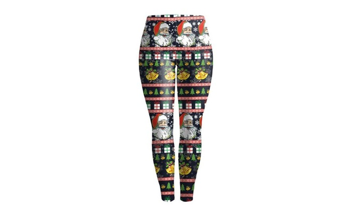 Women's Stretch Workout Casual Ugly Christmas Leggings