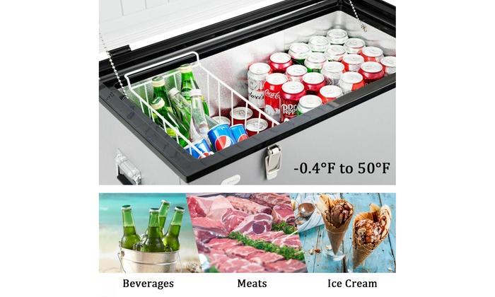 Costway 79-Quart Portable Electric Car Cooler Refrigerator