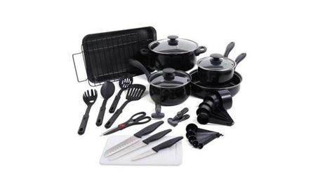 30pc Black Total Kitchen Cookware Set 7eb27fdf-43b1-474b-aec4-da3d2ef7108e