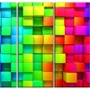 Rainbow of Colorful Boxes - Abstract Glossy Aluminium Art artwork