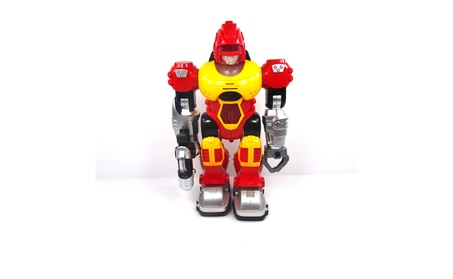 Power Warrior Walks and Lights Up Super Robot Action Figure Boys (Red) 7bcea774-1c6e-49ac-b7be-2f5bfe76c1f7