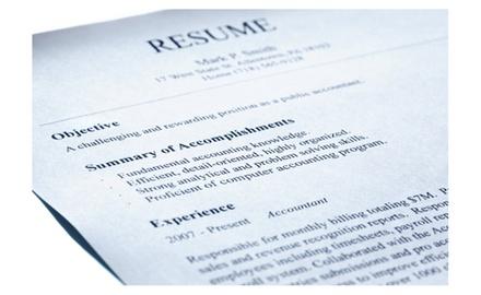 resume writing package groupon
