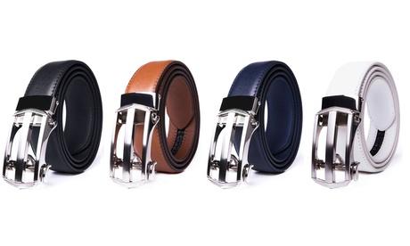 Braveman Men's Leather Automatic Buckle Ratchet Dress Belt