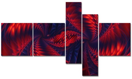 Electric Fire - Large Abstract Wall Art - 63x36 - 5 Panels cd1da8ee-f6f7-4a76-b9eb-2daf01153c13