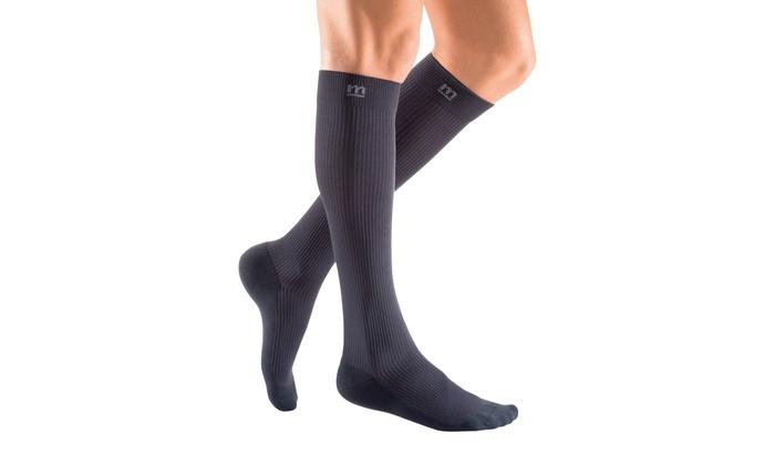 404109876 Activa Therapeutic Mens Ribbed Dress Socks 15-20 mmHg - Black X-Large