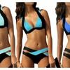 Women Color Splicing Bikini Set Bandage Push Up Swimwear Sexy Swimsuit